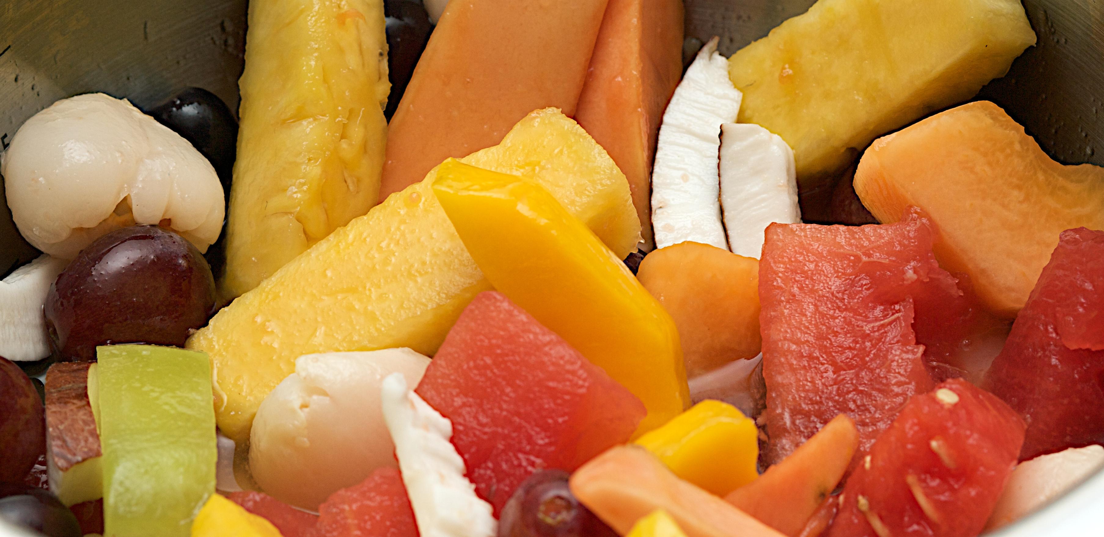 fruit bowl of tropical fruit salad exotic fruit salad tropical fruit ...