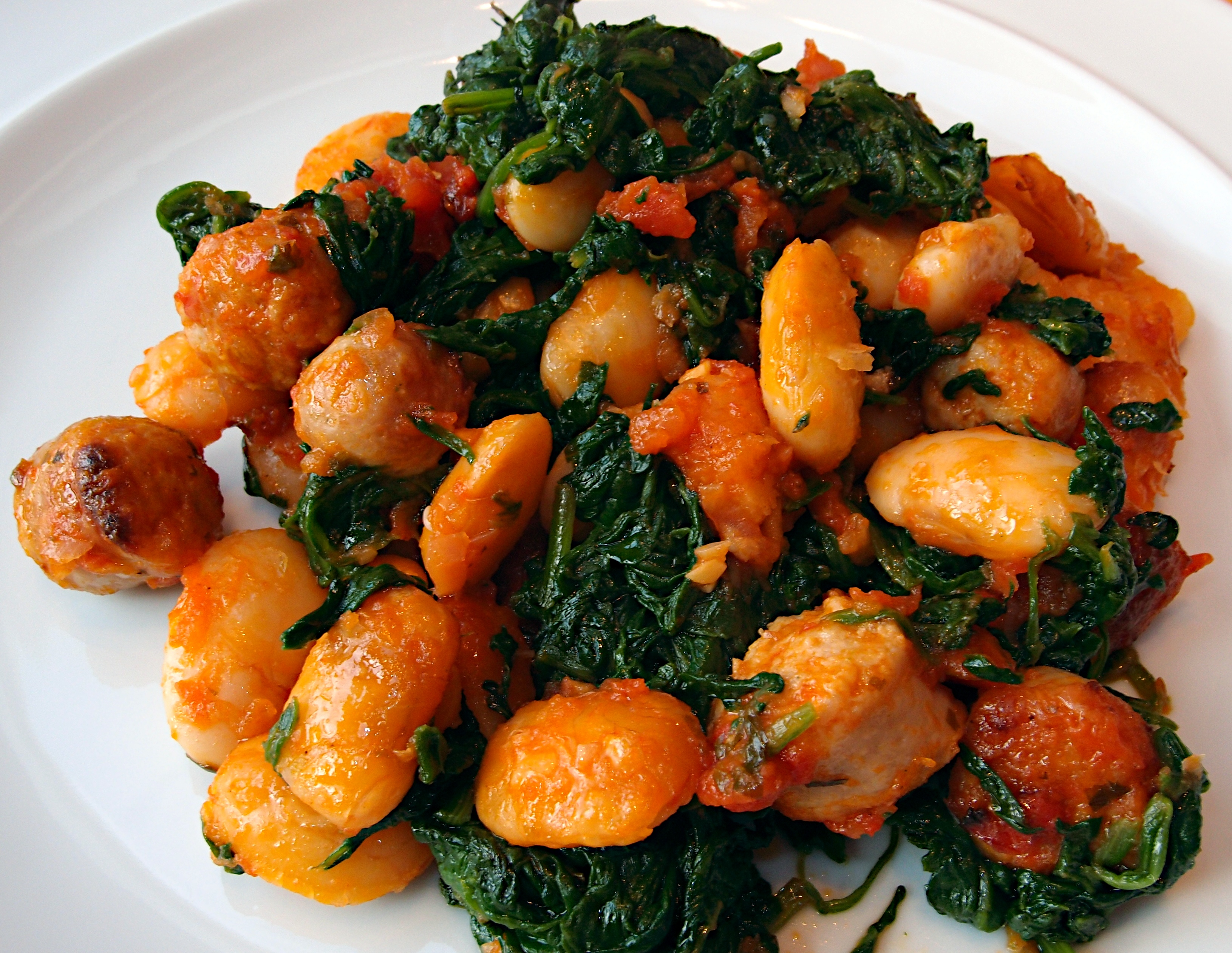 Bean Spinach And Sausage Casserole