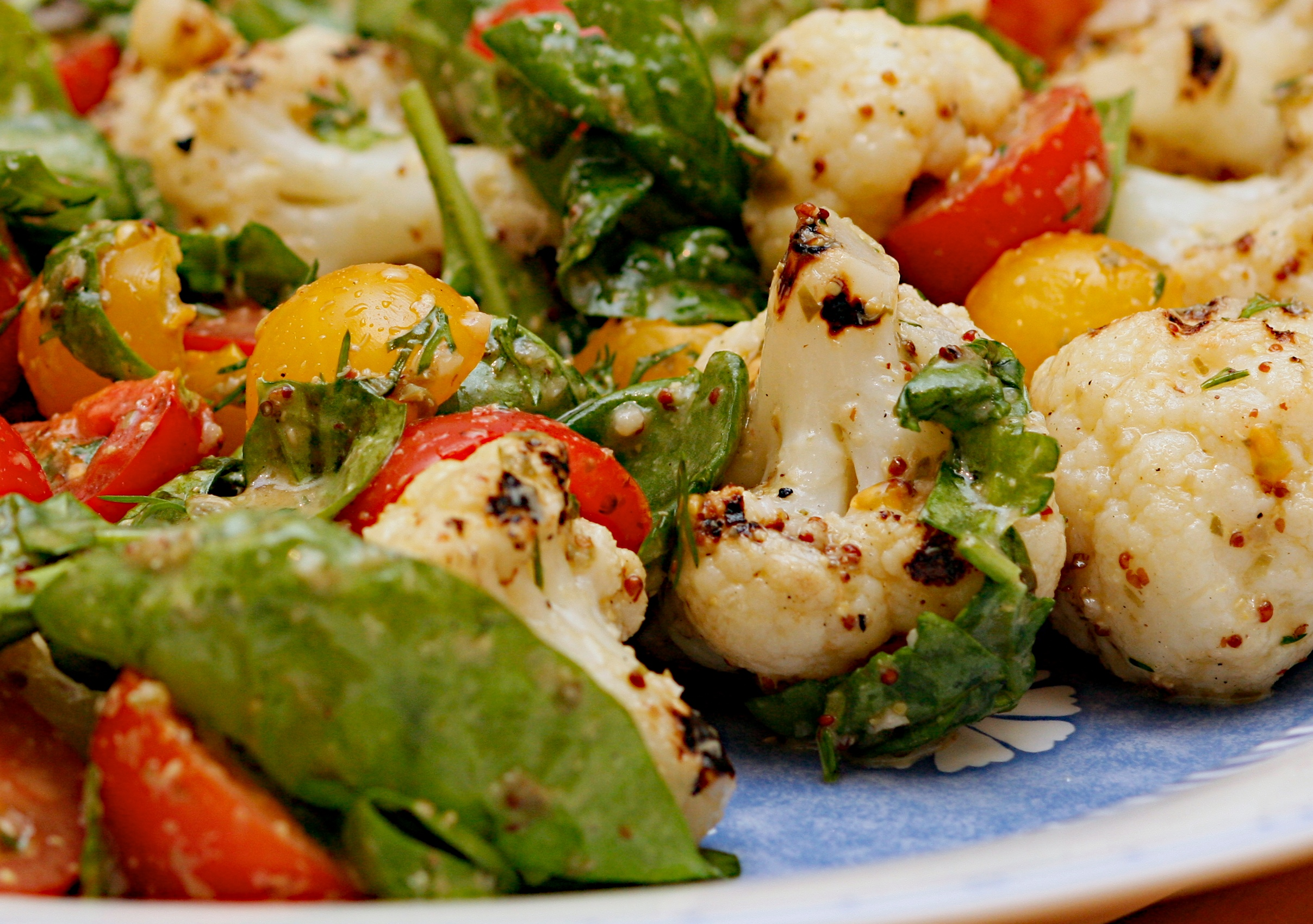Chargrilled cauliflower salad jono jules do food wine chargrilled cauliflower salad forumfinder Image collections