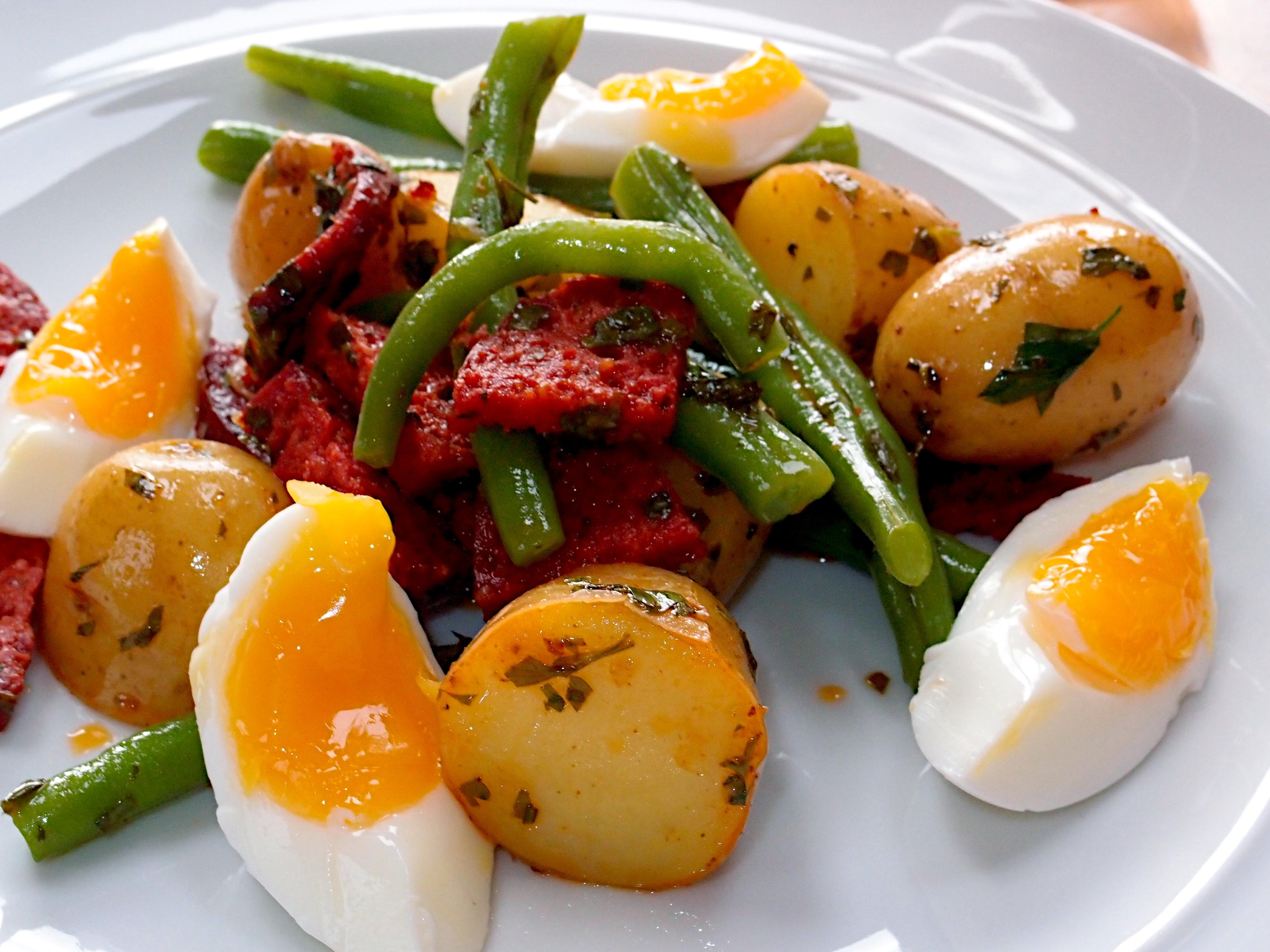 Chorizo soft egg salad jono jules do food wine oh forumfinder Choice Image