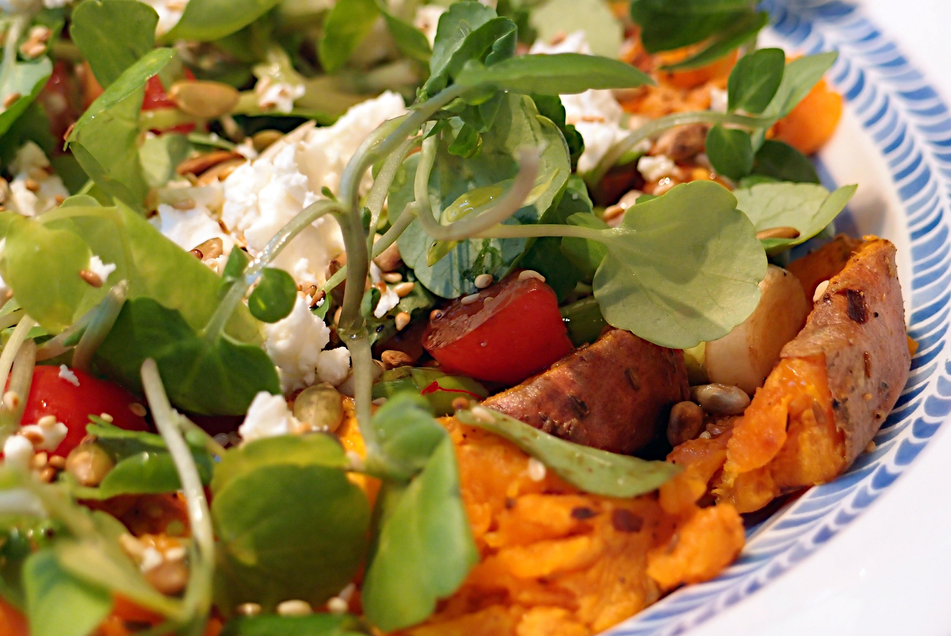 Spicy Sweet Potato Feta Salad Jono Jules Do Food Wine