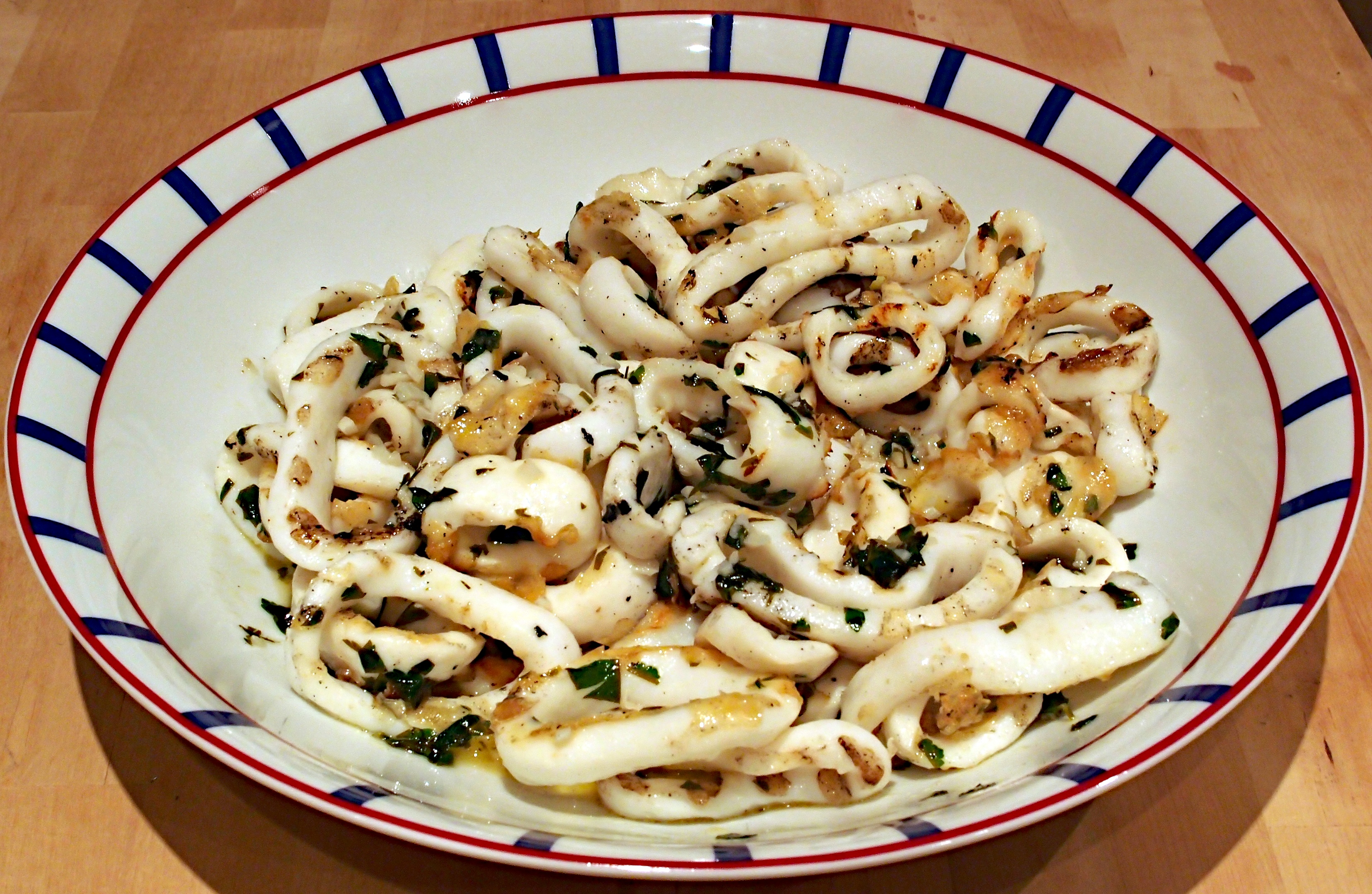 Sauteed Calamari With Parsley And Garlic