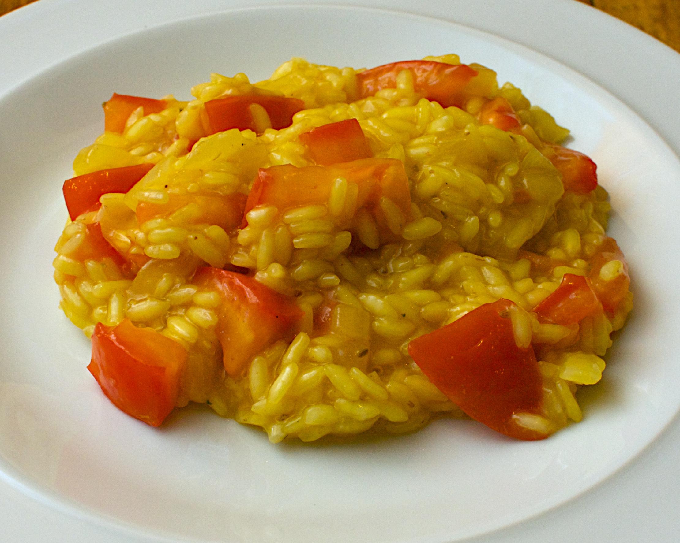 Light Saffron & Tomato Risotto | Jono & Jules do food & wine