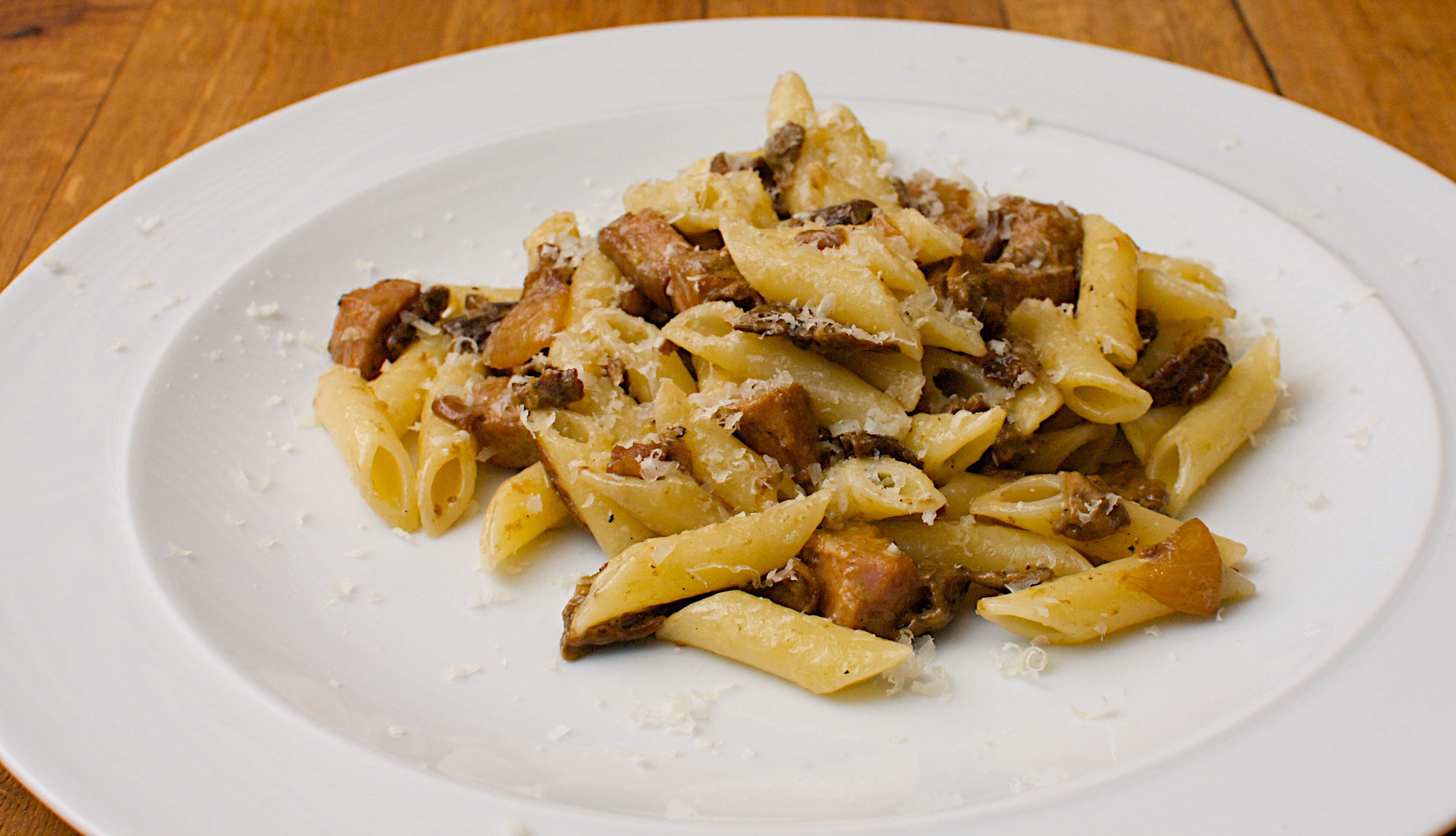 Chestnut Pasta Rags With Wild Mushrooms And Brussels Sprouts Recipes ...