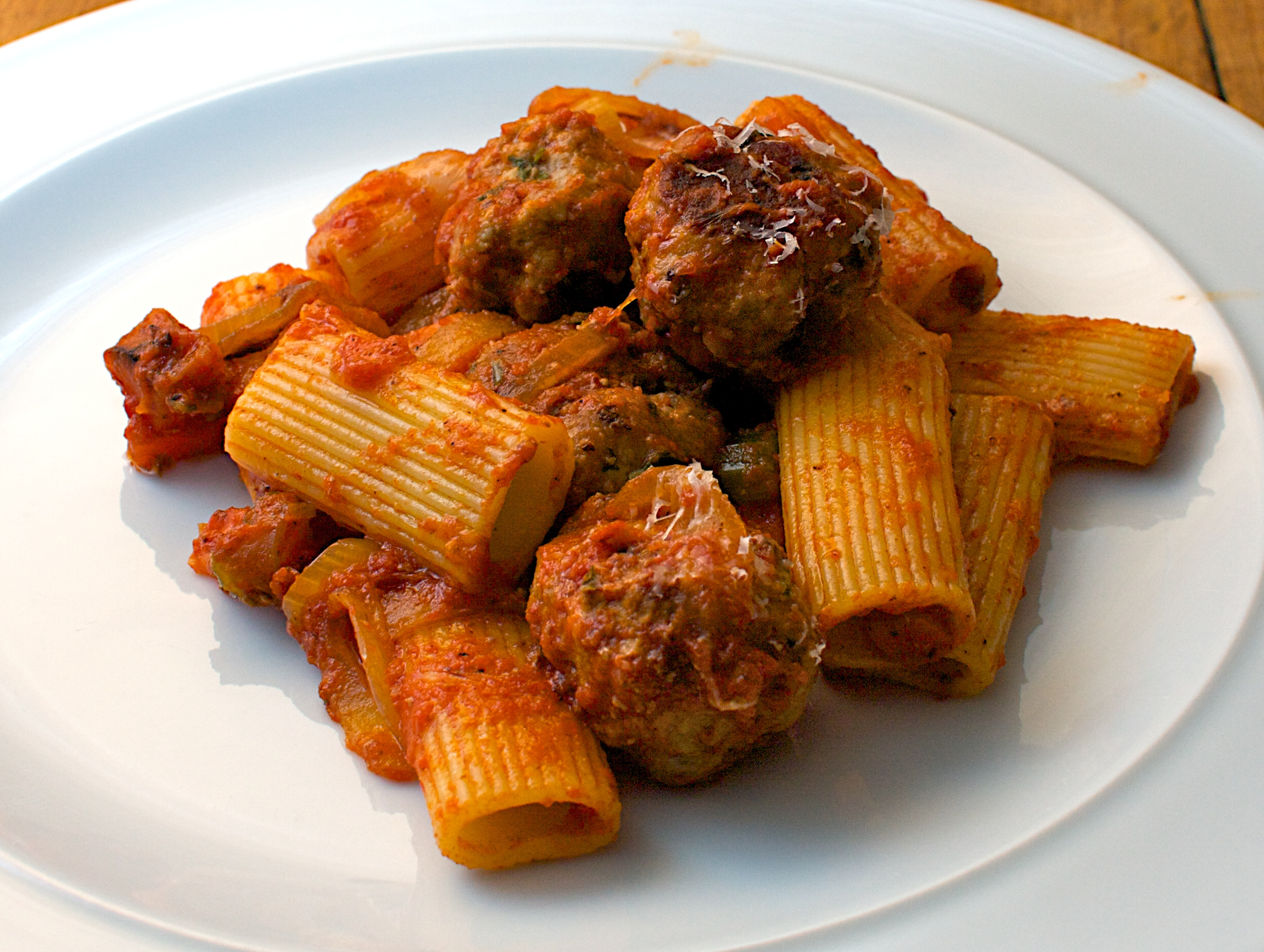 Eggplant Romesco Rigatoni Recipe — Dishmaps