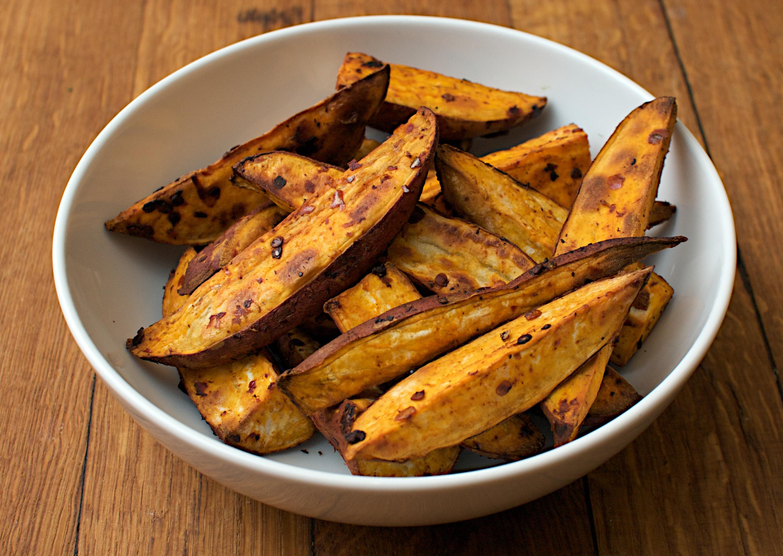 Harissa Sweet Potato Wedges Jono Jules Do Food Wine