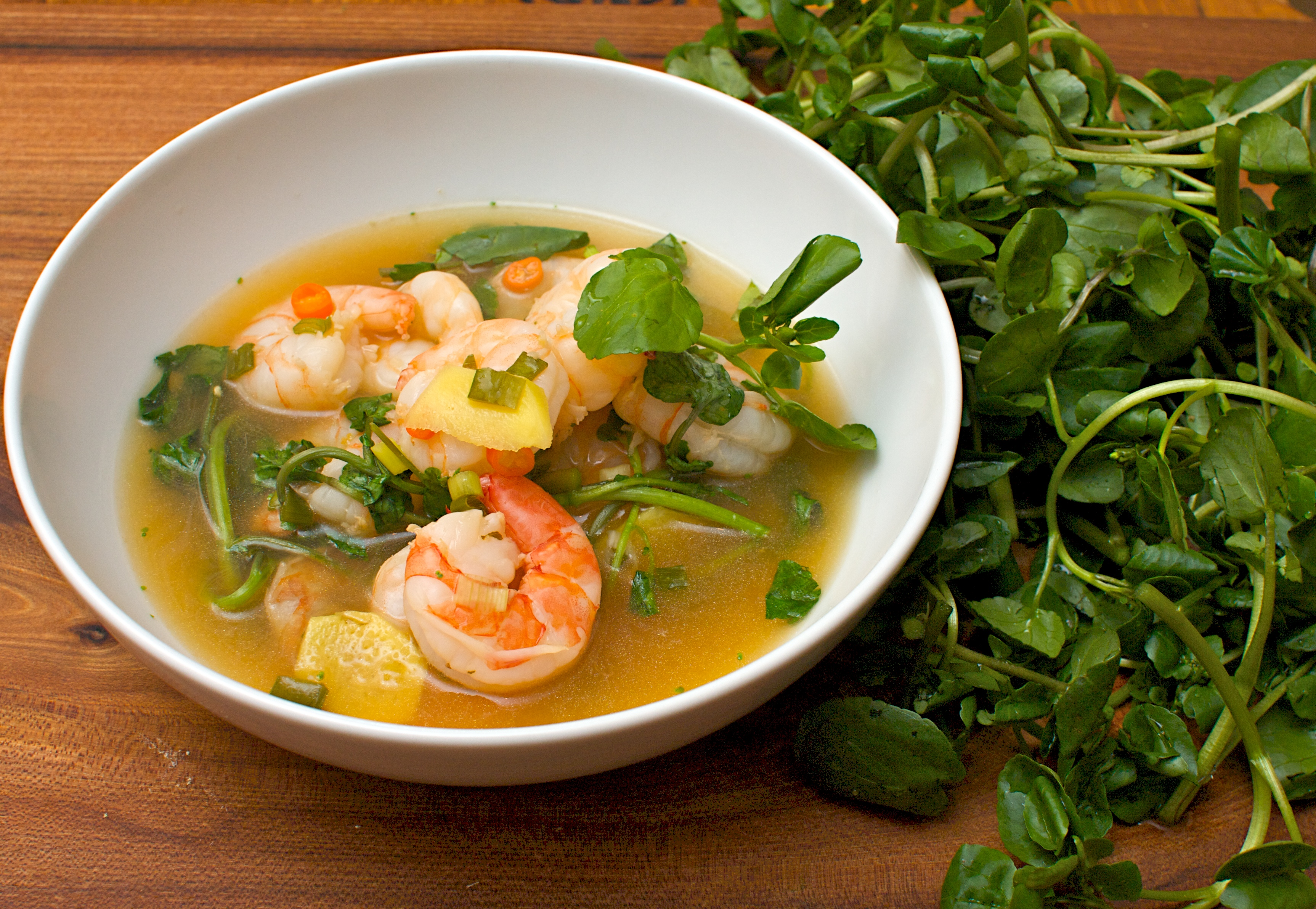 Hot and Sour Tiger Prawn Soup Recipe advise