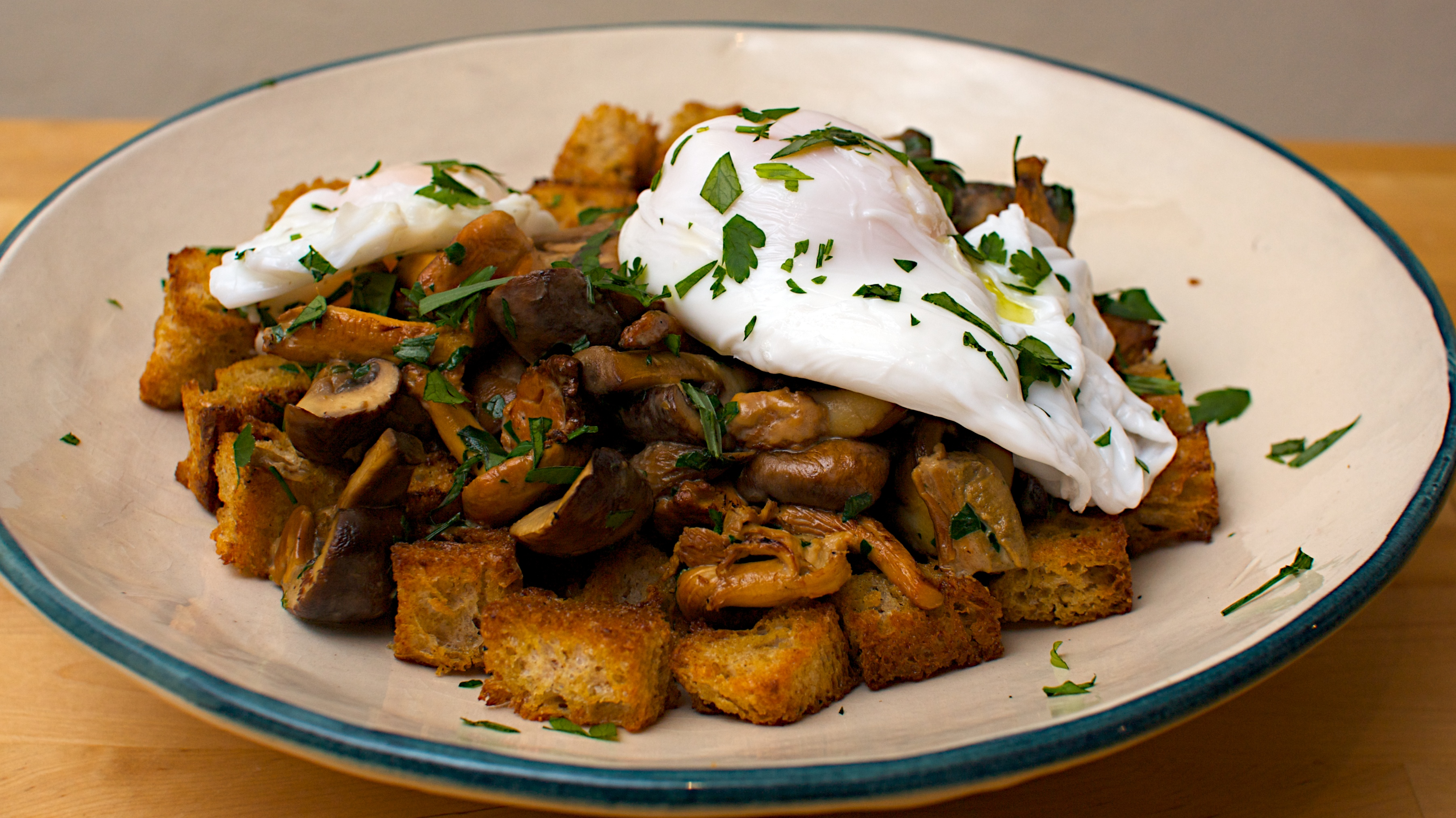 Mushroom Ragout with Poached Duck Egg | Jono & Jules do food & wine
