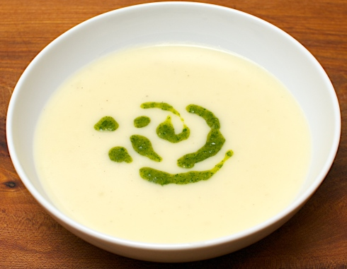 Potato Soup with Parsley Pesto