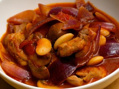 Chicken, Butter Bean, Red Onion & Sherry Stew