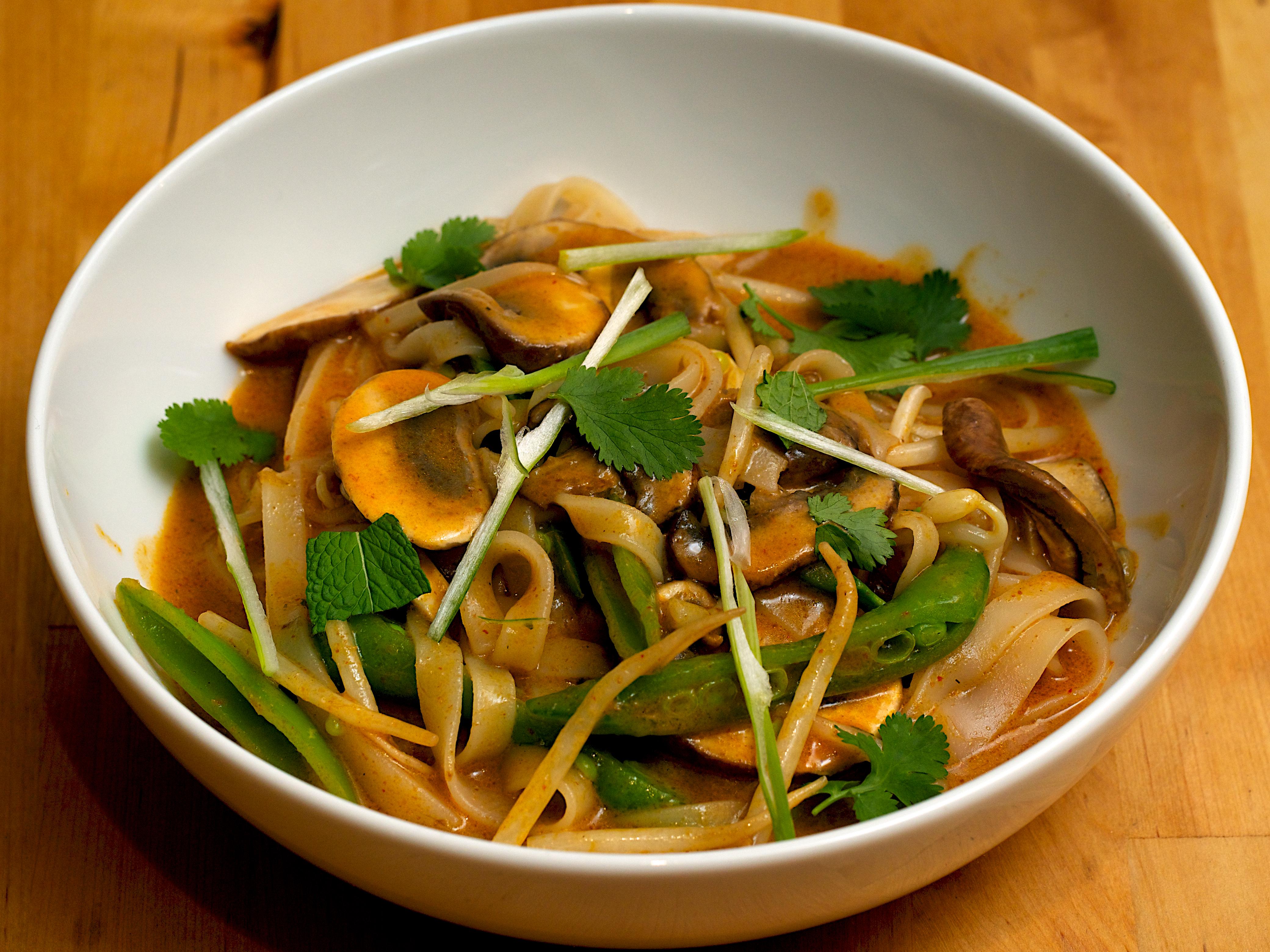 Coconut Noodle Vegetable Soup