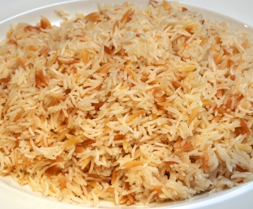 Basmati rice with orzo