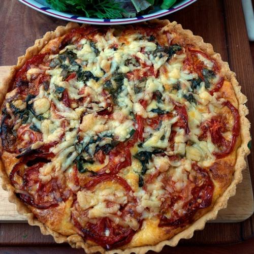 Tomato & cheese tart