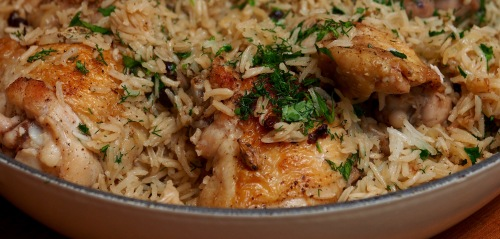 Chicken Caramelised Onion & Cardamon Rice