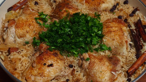 Chicken with caramelised onion & cardamon