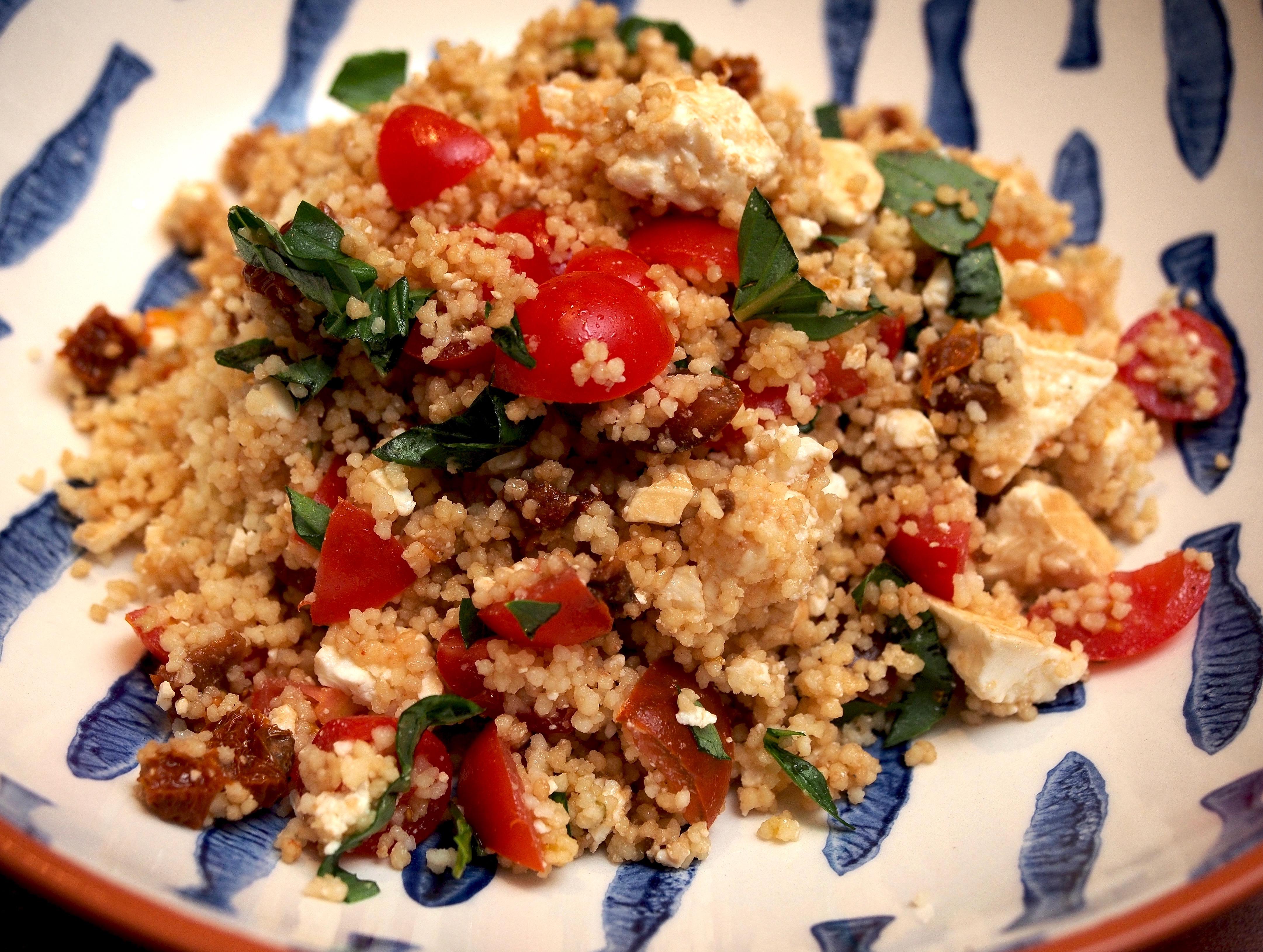 Feta, fresh & semi-dried tomato couscous
