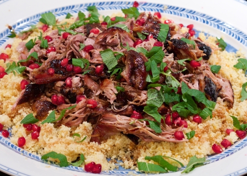 Pomegranate & slow cooked lamb couscous