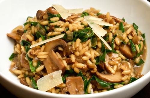 Porcini & spinach risotto