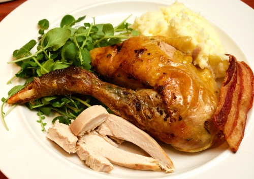 Roast Guinea Fowl with sage and lemon mash 2