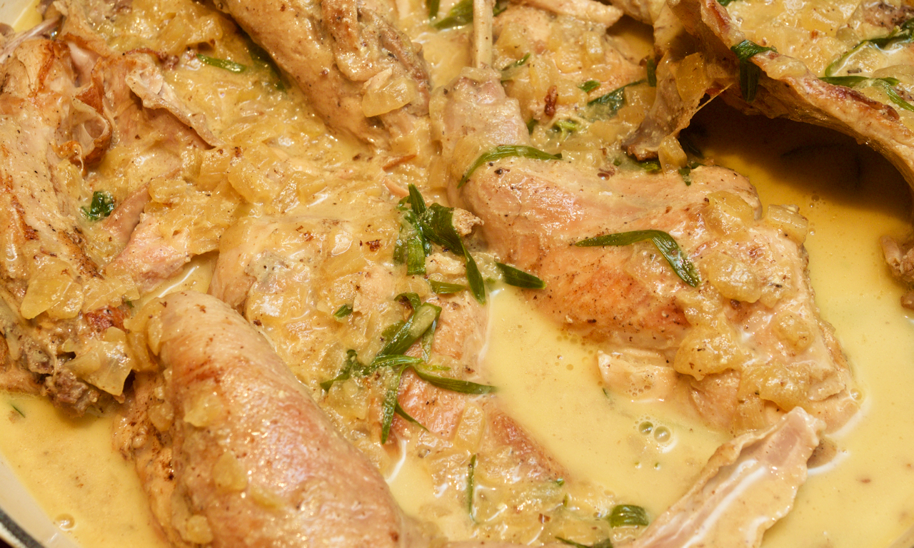 Rabbit with tarragon & mustard