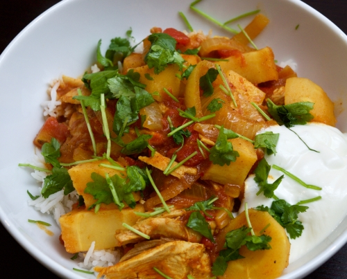 Turkey & parsnip curry