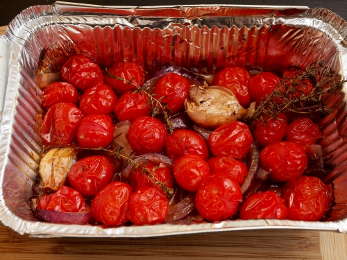 BBQ roasted cherry tomatoes