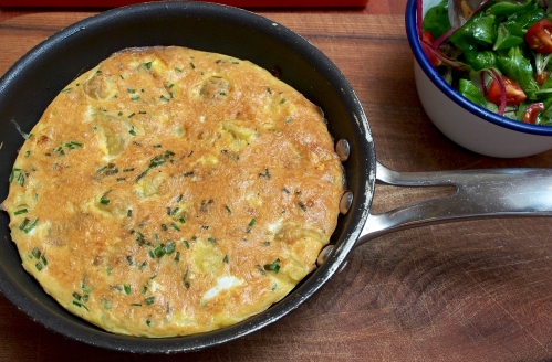 New potato & Pecorino frittata