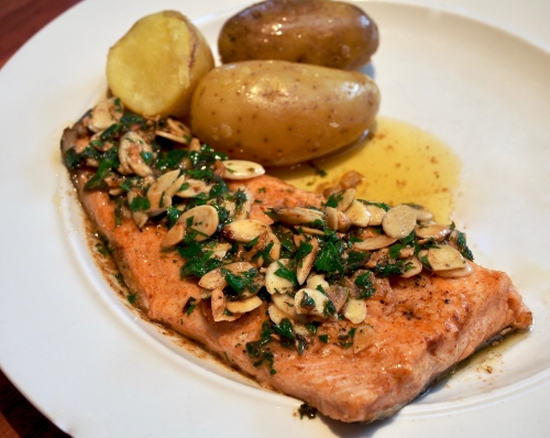 Trout with brown butter & almonds