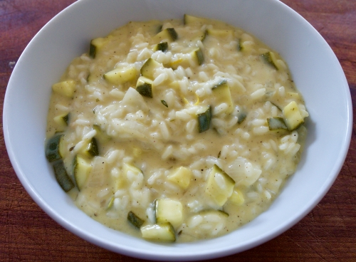 Courgette & lemon risotto