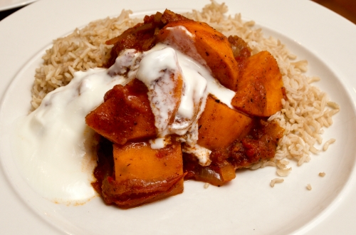 Sweet potato vindaloo