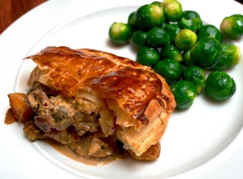 Festive butternut and stilton pies