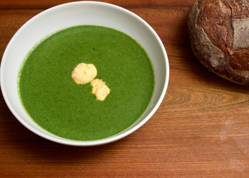 Swedish spinach and butterball soup