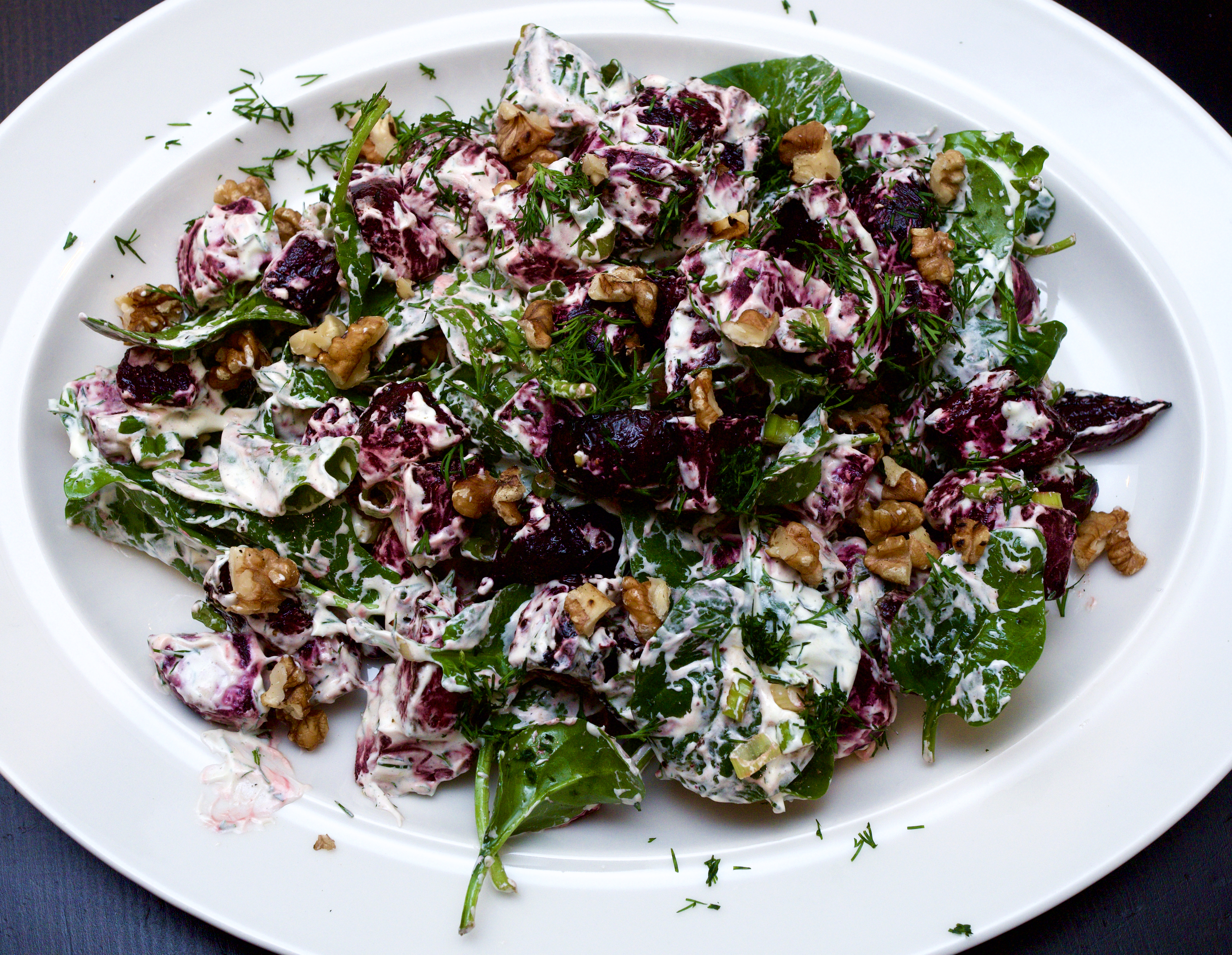 Beetroot & Dill with Crème Fraîche & Walnuts