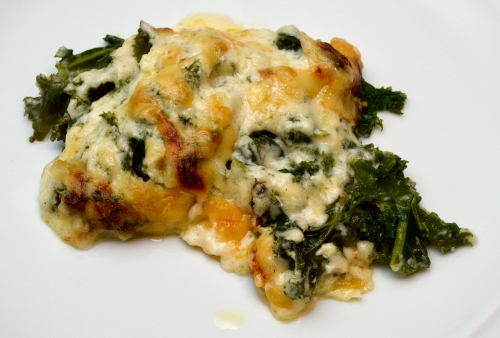 Cheesy Kale Bake