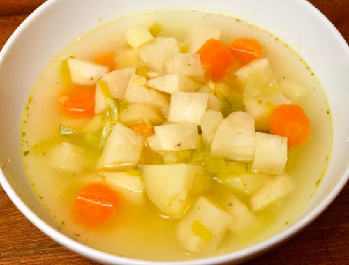 Winter root vegetable soup