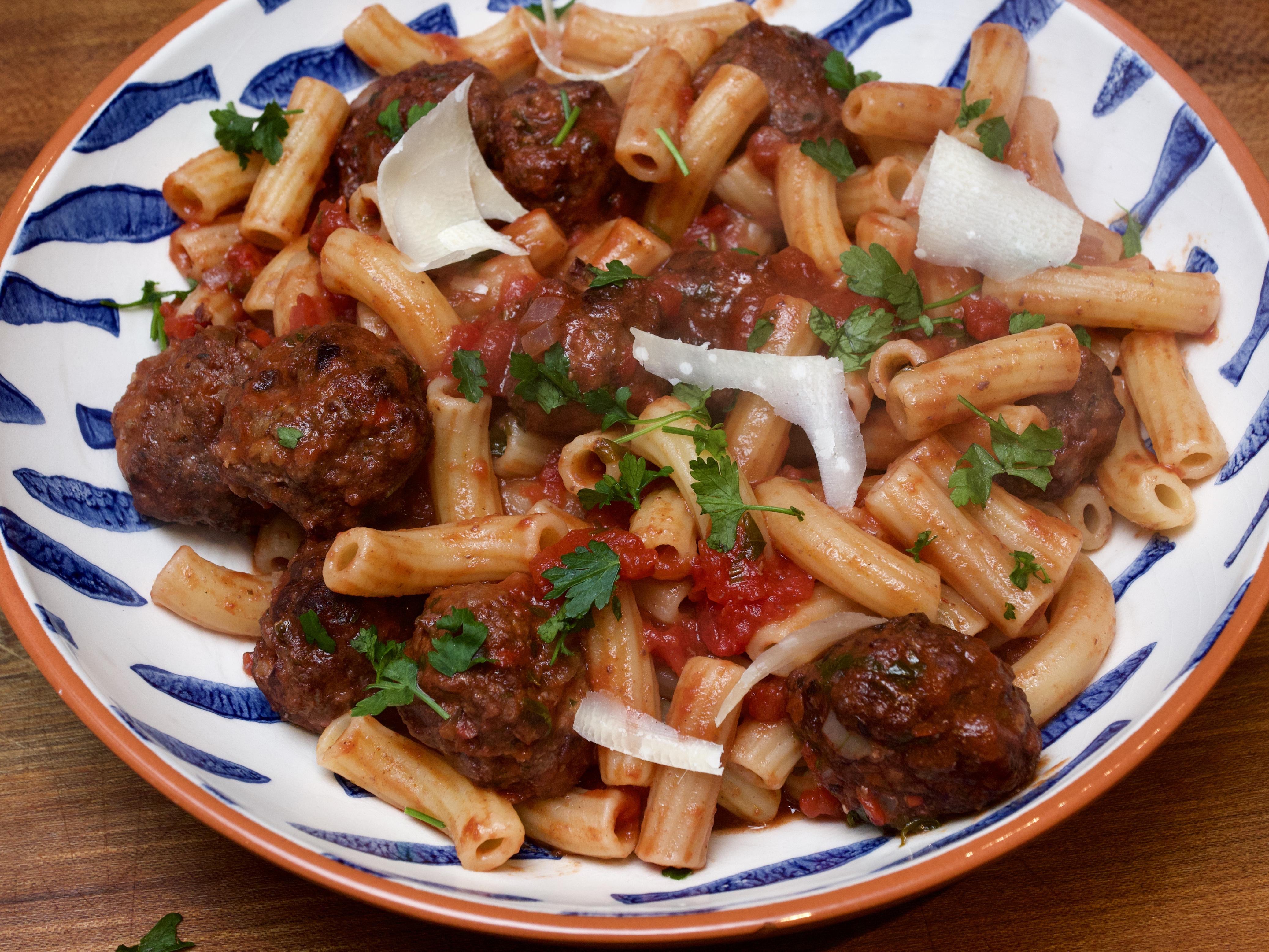 Chianti-baked Meatballs