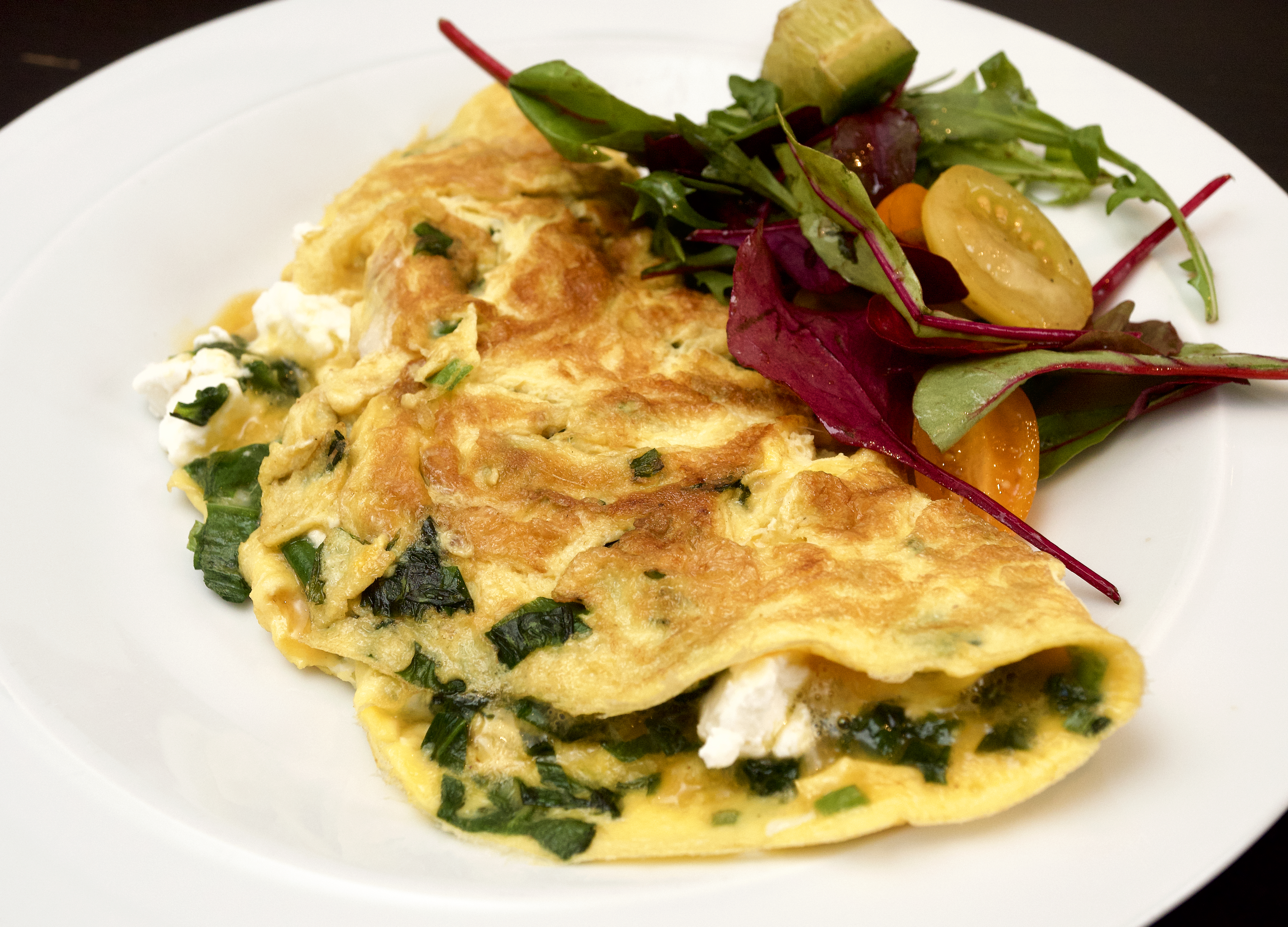 Wild Garlic Omelette with goats cheese