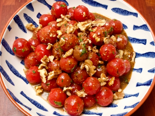 Cherry tomato salad with wholegrain mustard