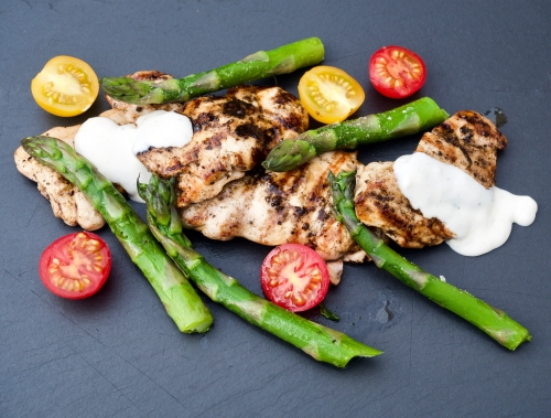 Chargrilled Pepper & Lime Chicken with Lime Aïoli