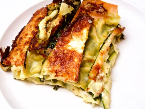 Spinach & Courgette Lasagne