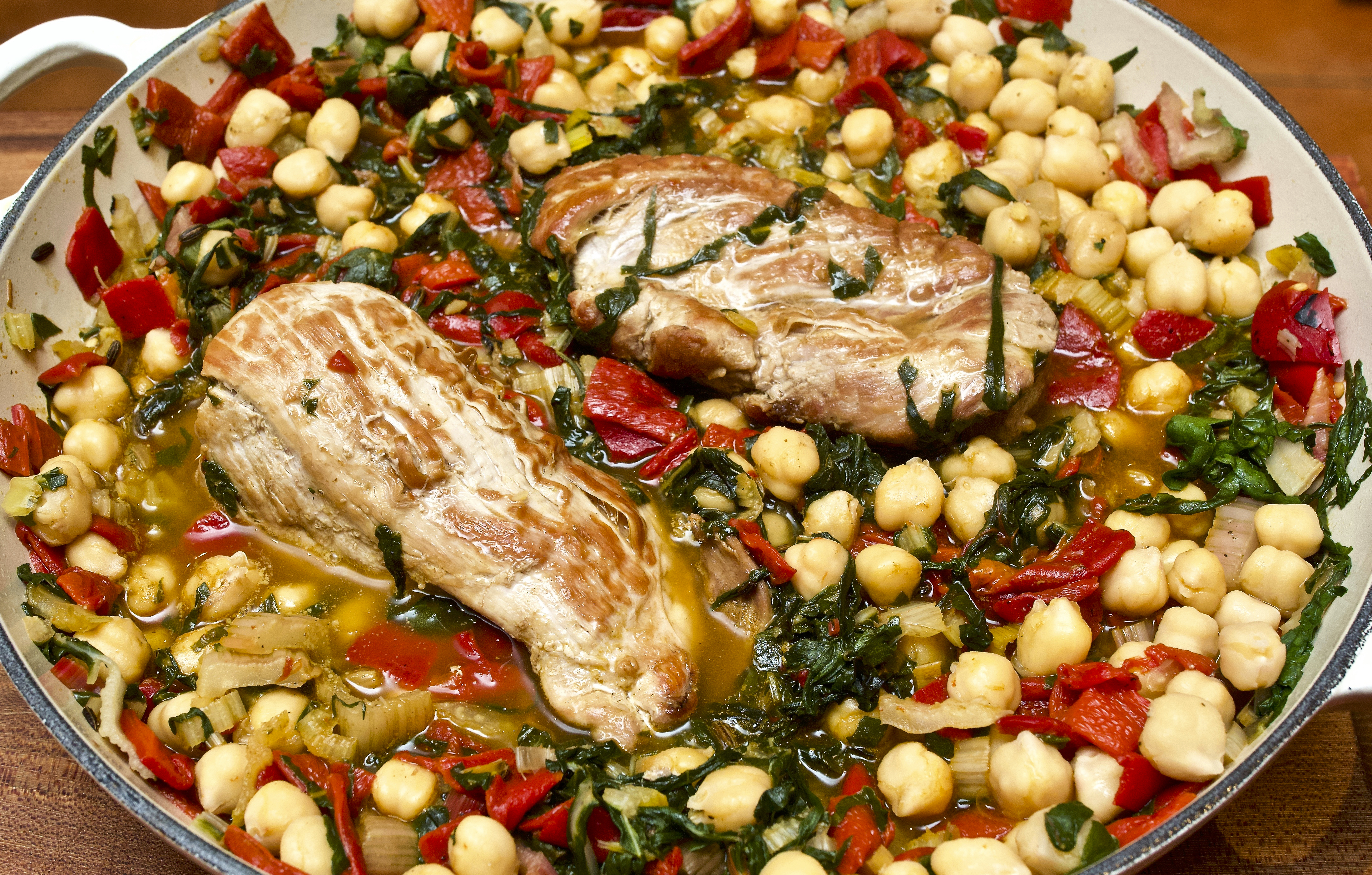 Chickpea & Rainbow Chard Pork