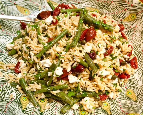 Orzo & tomato salad
