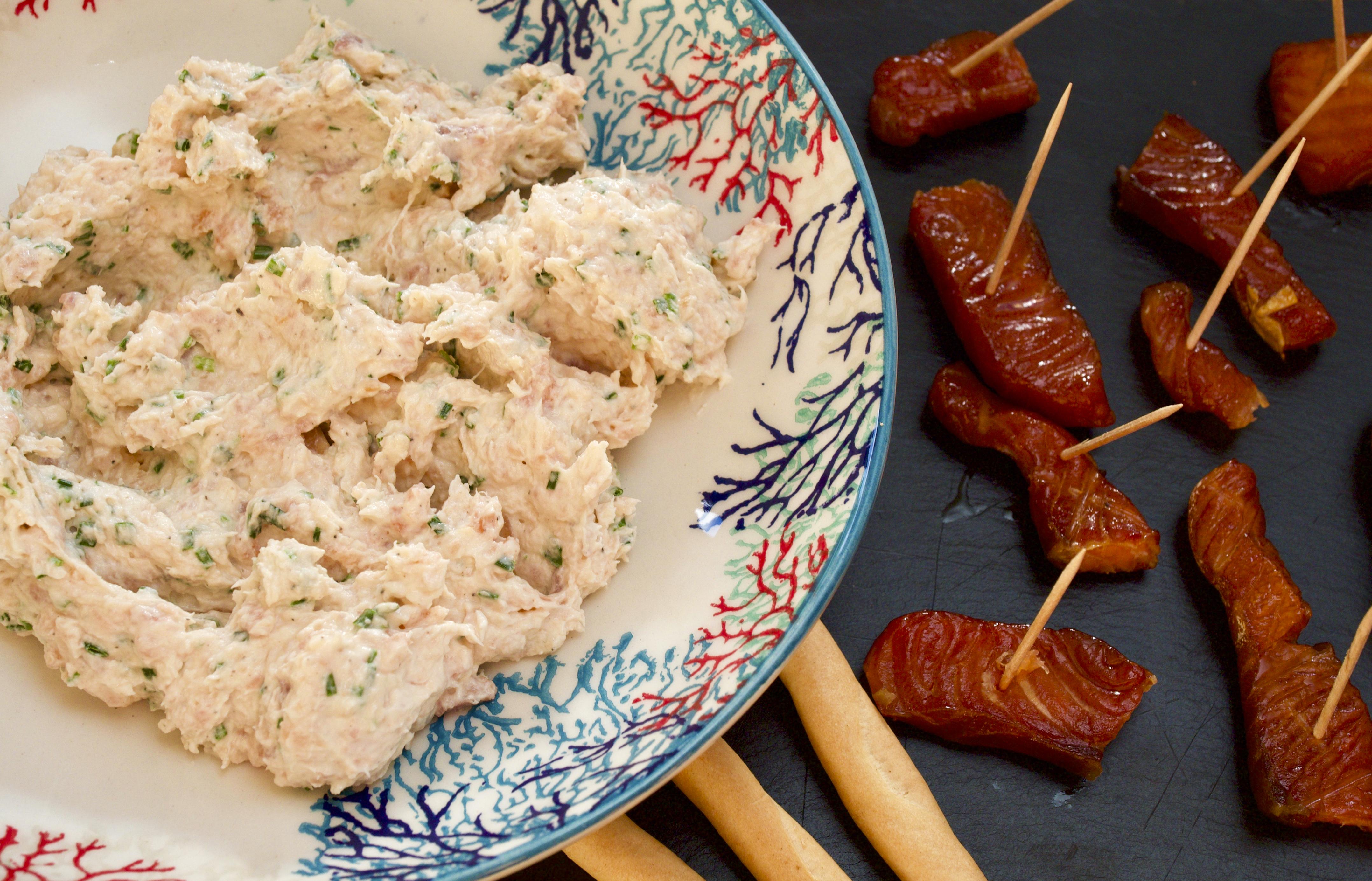Salmon pâté with Sheskin smoked salmon