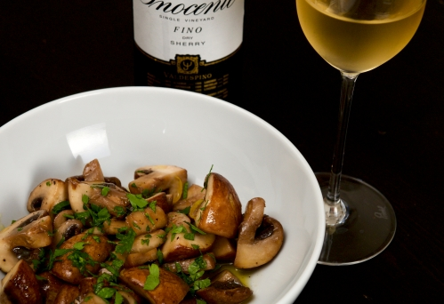 Marinated mushrooms with lemon