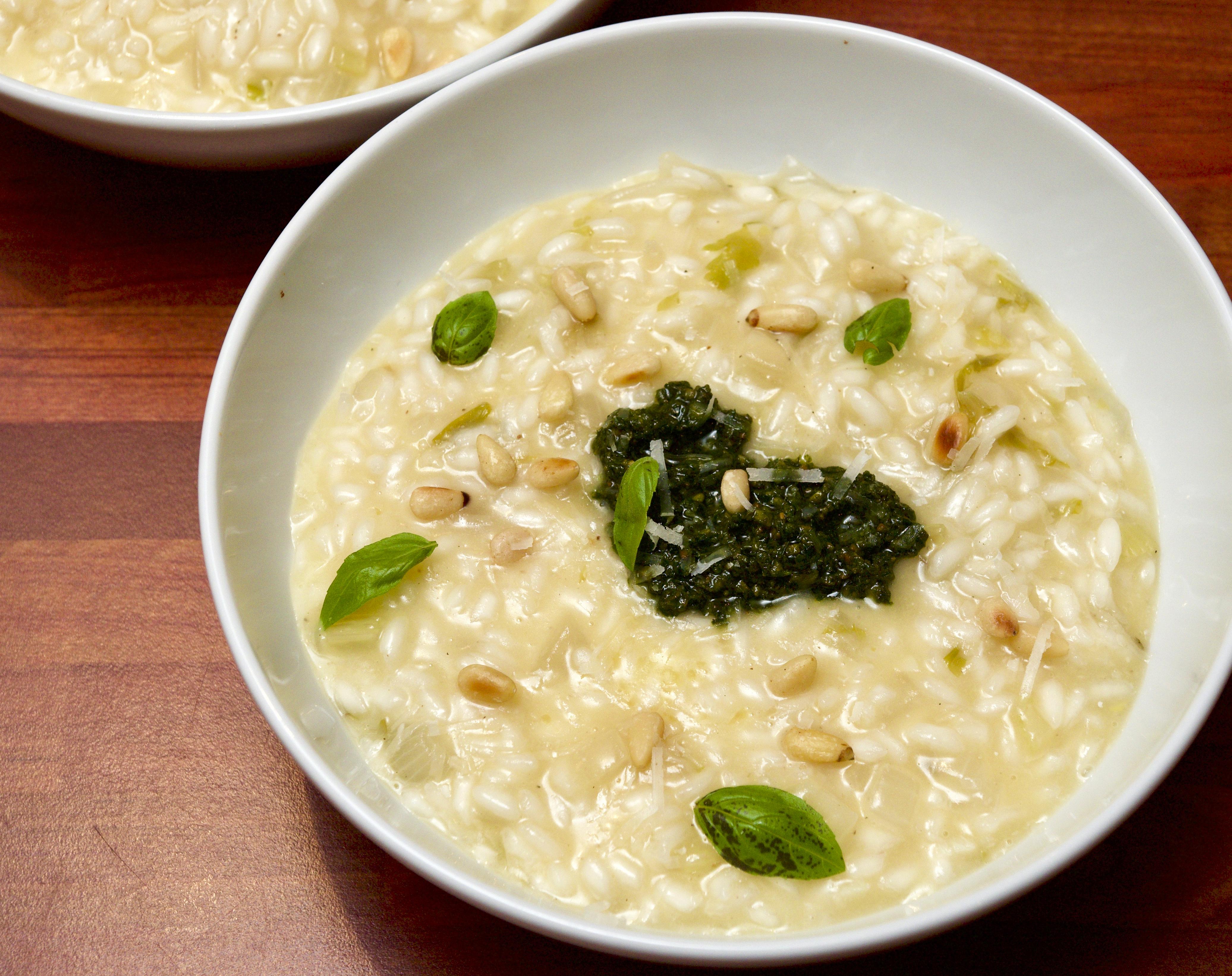 Risotto bianco with pesto