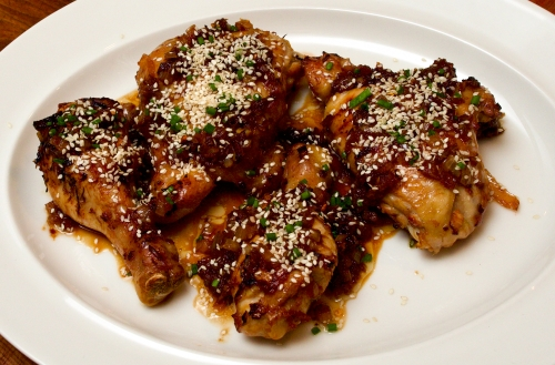 Korean chicken with sesame sprinkle