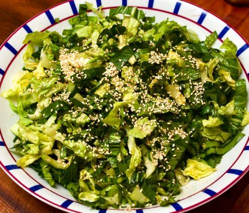 Herb & pak choi salad