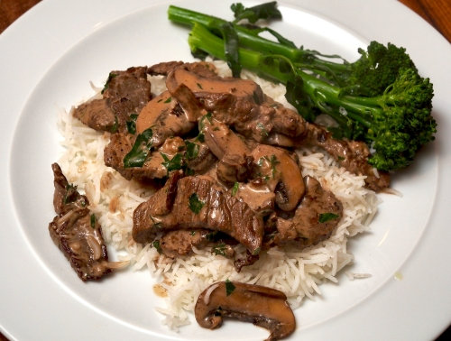 Steak in Porcini Mushroom Sauce