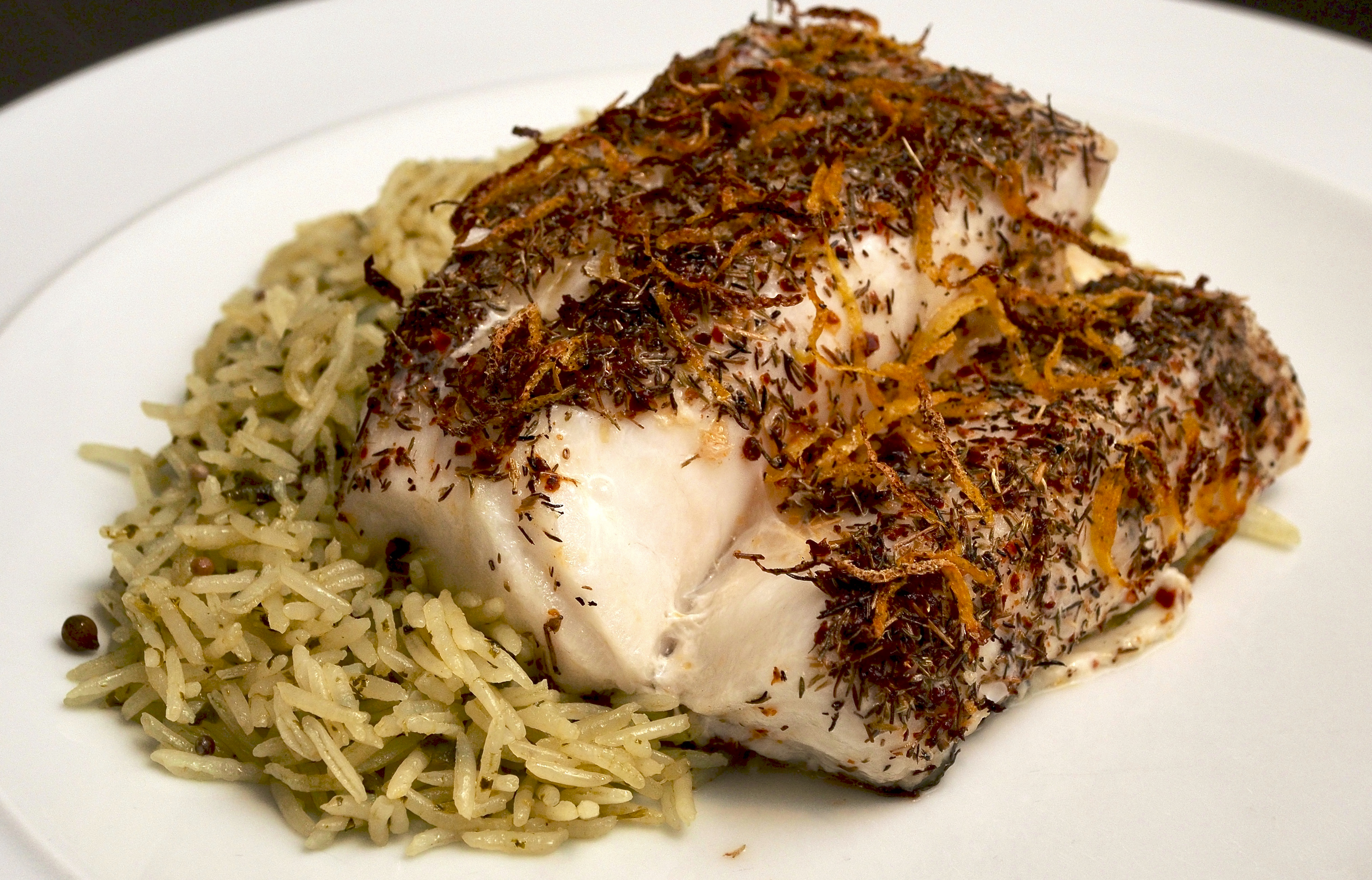 Roasted Cod with Wild Thyme & Pul Biber