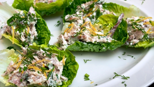 Smoked Mackerel Loaded Leaves